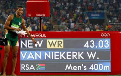 Sul Africano Wayde van Niekerk, recordista dos 400 metros rasos
