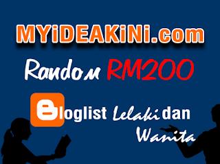 MYiDEAKiNi.com Random RM200 Bloglist Lelaki Dan Perempuan