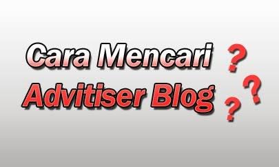 Cara Mencari Advitiser Blog