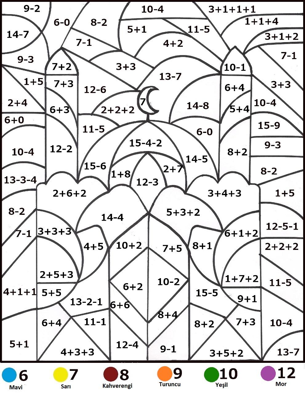 Evokulum Matematikli Boyama