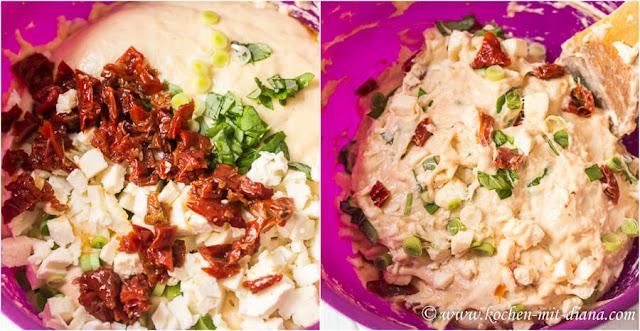 Tomaten-Mozzarella-Basilikum-Waffeln-Teig