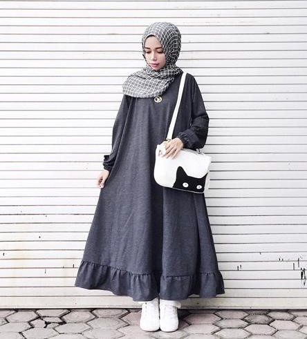 30 Koleksi Fashion Hijab Remaja 2018 Gaya Masa Kini