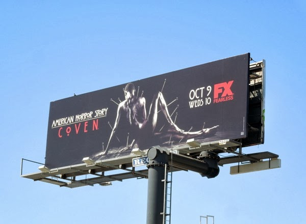 American Horror Story Coven human voodoo doll billboard