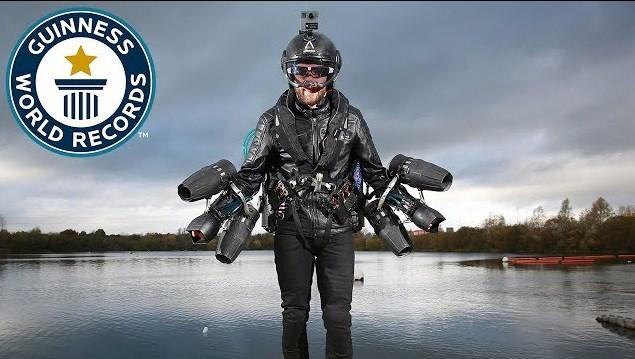 Video Real Iron Man Mencatat Guinness Word Records Sebagai Manusia Jet Tercepat