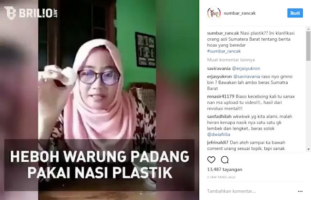 Geram dapat Kabar Hoax Soal Nasi Memantul, Orang Sumbar Asli Bikin Video Klarifikasi