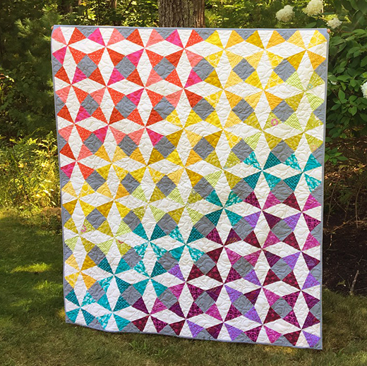 Summer Breeze Quiltdesigned by Sherri Noel of Rebecca Mae Designs, The Pattern by Cozy Quilt Designs for Jordan Fabrics