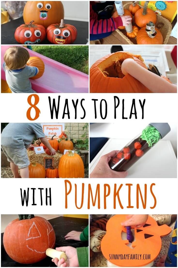 8 Fun Pumpkin Activities for Preschoolers! These Fall activities for kids are perfect for Halloween or any time of the season.