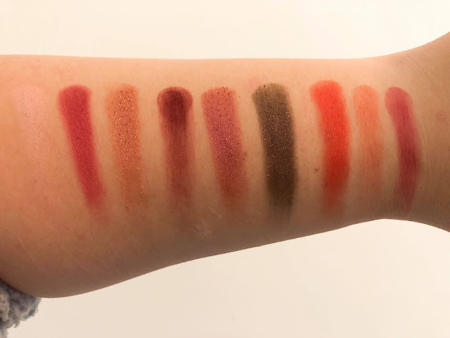 huda beauty ruby obsessions swatches