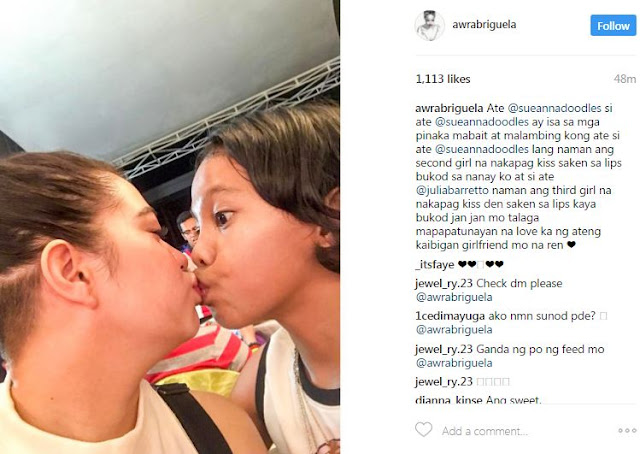 OMG! Awra Briguela Kisses Sue Ramirez on the Lips: 'Second girl na nakapag-kiss sakin sa lips!' See Here