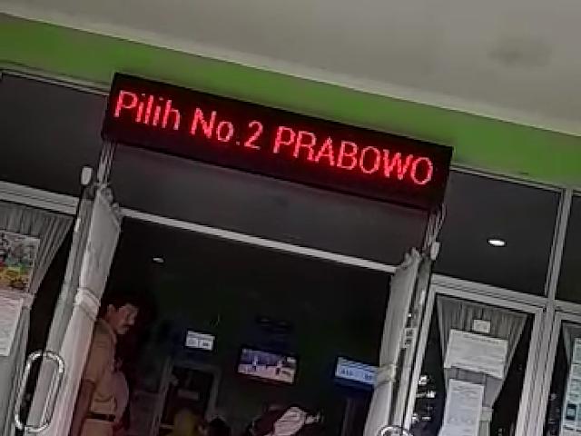 Heboh Running Text Puskesmas Srondol Semarang Ajak Pilih Prabowo-Sandi