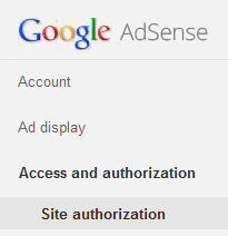 adsense access and authorization