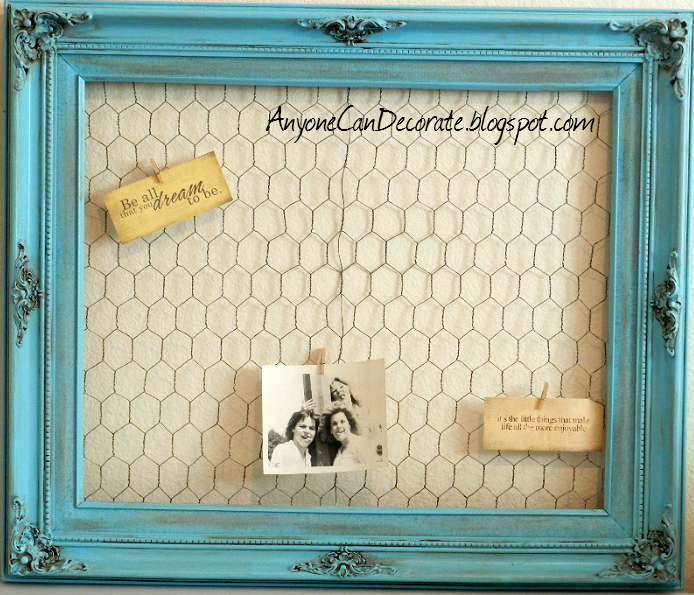 15 Thrifty And Chic Diy Home Decorating Ideas: Anyone Can Decorate: $5 DIY Memo Board