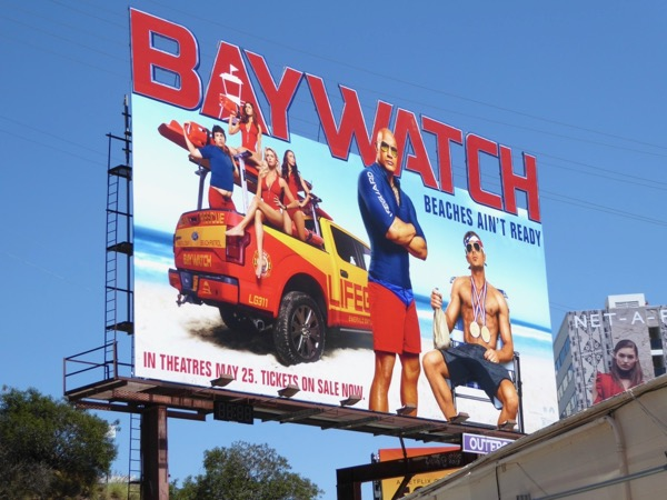Baywatch 2017 movie billboard
