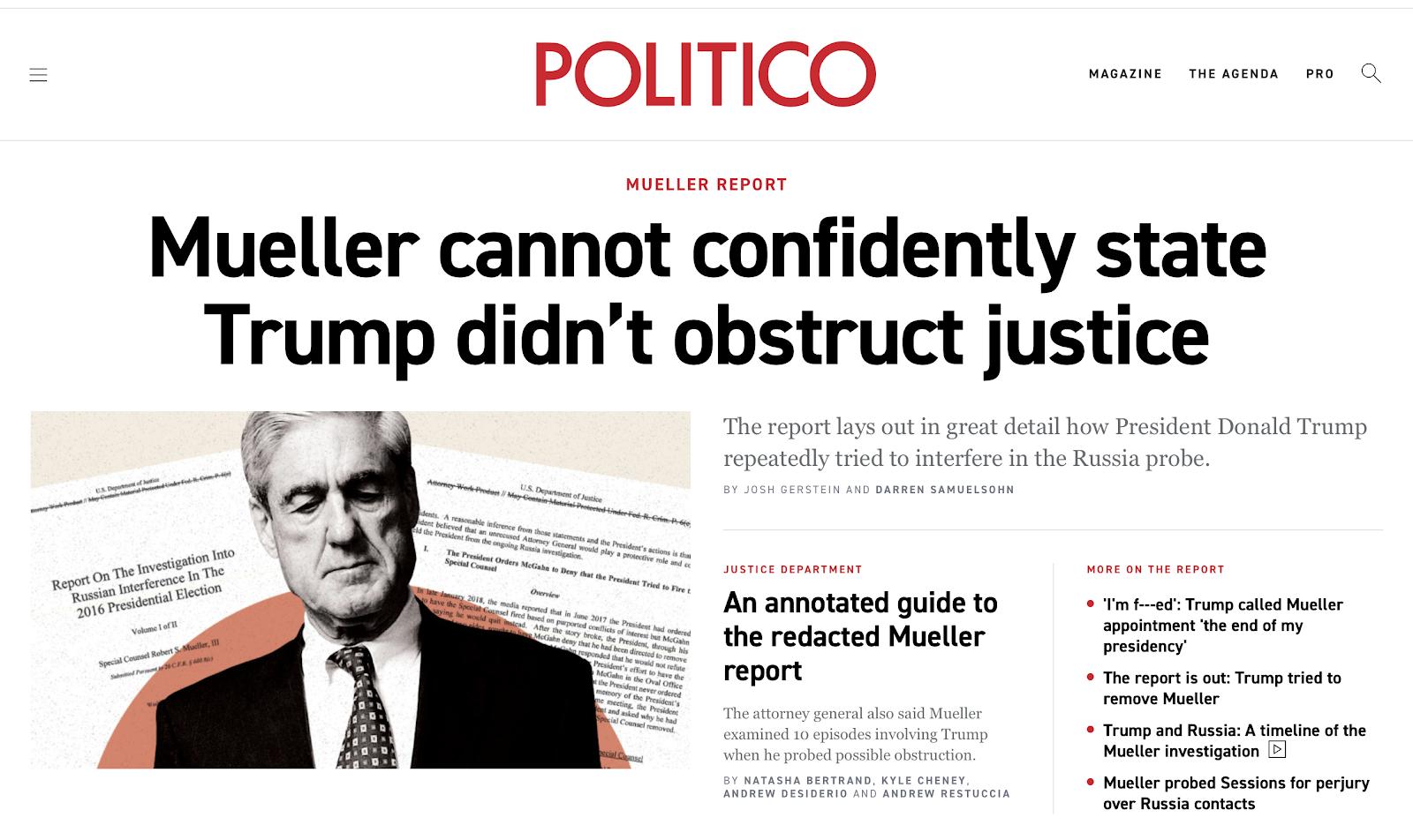 The Mueller Report (Again)