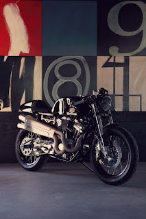 american 1200 sportster cafe racer by deus front right angle