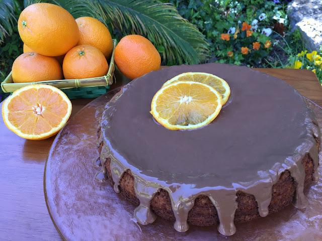 bizcocho naranja chocolate