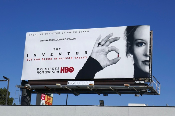Inventor Out for Blood in Silicon Valley documentary billboard