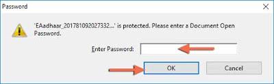 Aadhar-PDF-open-password