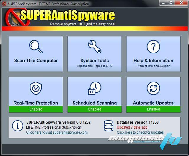 SUPERAntiSpyware Professional Versión 6.0.1262 Final