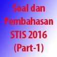 Soal dan Pembahasan STIS 2016 (Part-1)