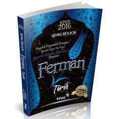 İhtiyaç Yayıncılık KPSS Ferman Tarih Çözümlü Soru Bankası (2016)