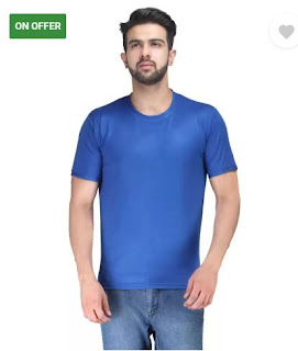 Flipkart Men's Round Neck Blue T-Shirt
