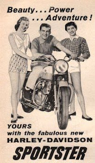 xl sportster 1957 adversiting beauty power adventure
