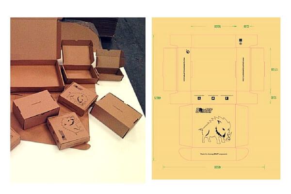 cajas para envios de piñones personalizados.