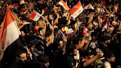 العراق, قوات الامن, المتظاهرين, منطقة المتظاهرين,