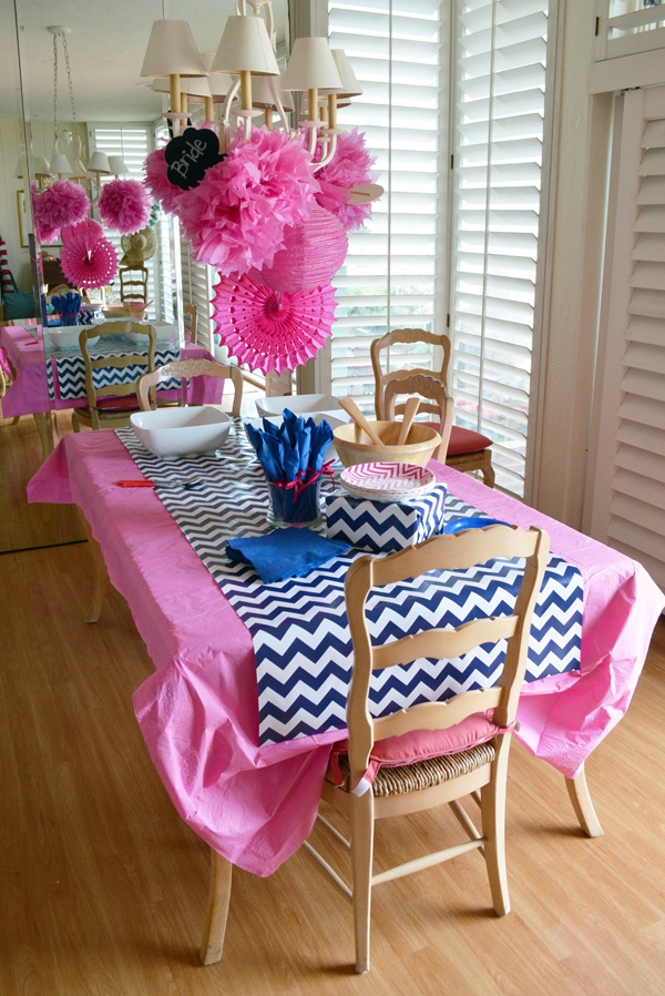 Belle Maison Beach Bridal Shower Navy Amp Pink Chic