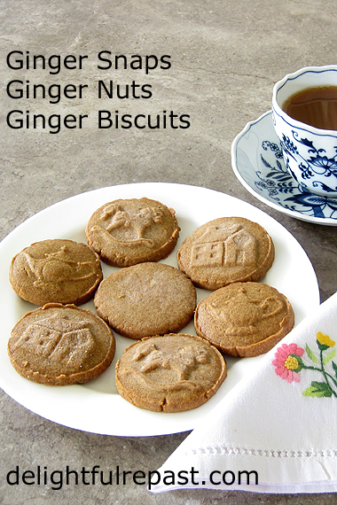 Ginger Snaps - Ginger Nuts or Ginger Biscuits - Stamped or Not / www.delightfulrepast.com