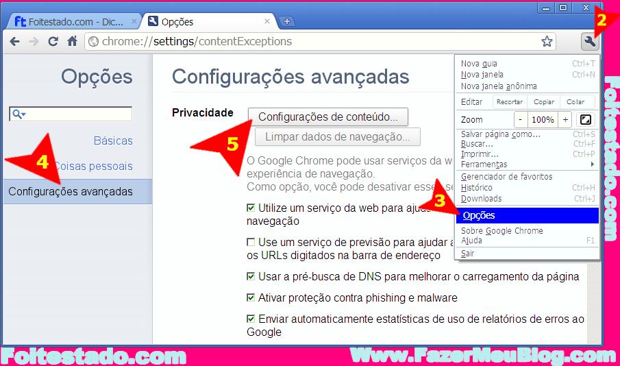 4b028519c Clique para ampliar como configurar google chrome para bloquear ou  habilitar java script