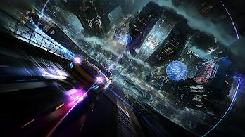 Sci-Fi, Cyberpunk, Car, Night, City, 4K, #128