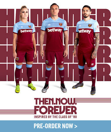 sneakers for cheap 09ce3 6da6a West Ham 19-20 Home & Away Kits Released - Footy Headlines