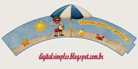 Kit Vamos a la Playa para Imprimir Gratis.