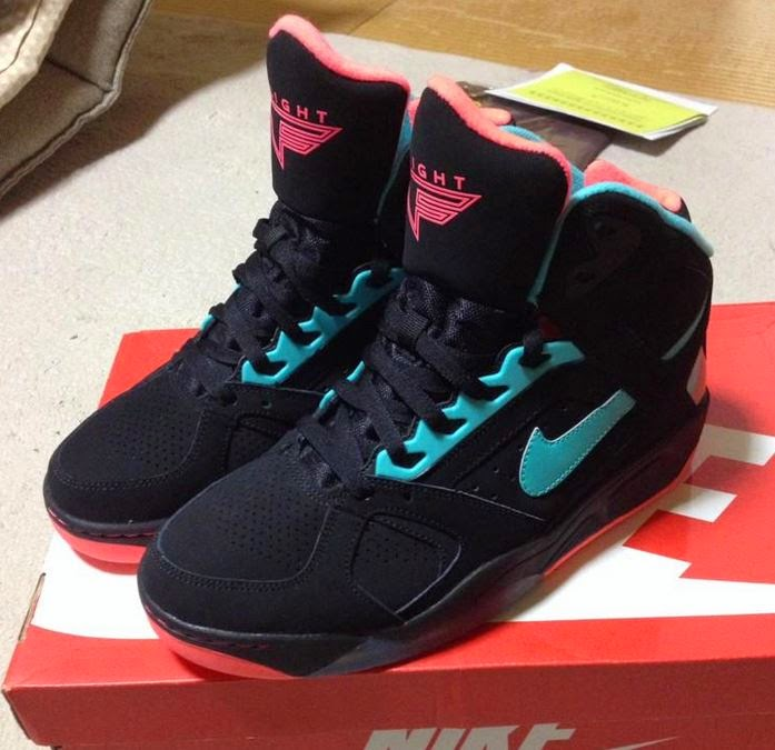 timeless design 9cde6 0191d Here is a look at the new Nike Air Flight Lite High Black Hyper Jade  Sneaker Available Now HERE with Free shipping, Peep more detailed images on  these ...