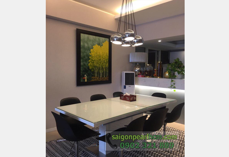 bán căn hộ Saigon Pearl tầng 3 view sông- bàn ăn