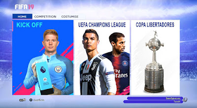 PES 2013 Theme FIFA 19 New Graphic Menu