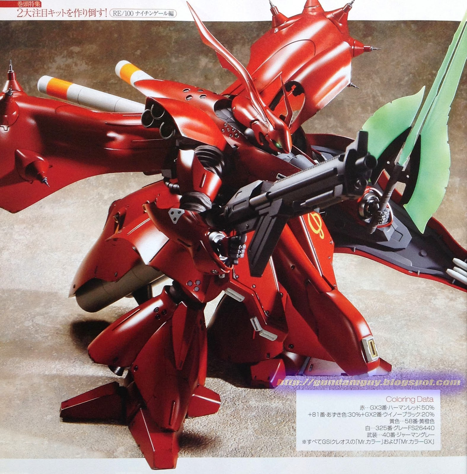 GUNDAM GUY: RE/100 MSN-04 II Nightingale