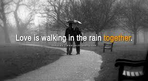 romantic love rain quotes