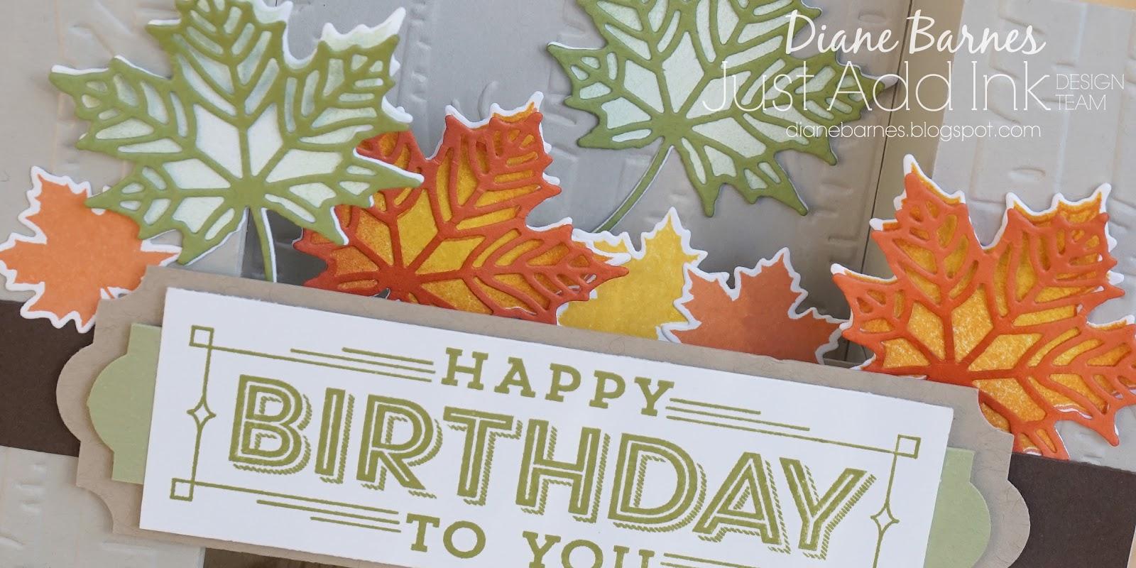 colour me happy: JAI 378 Just add texture - leafy birthday U