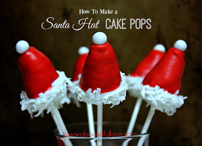 http://www.abountifullove.com/2015/12/santa-hat-cakepops.html