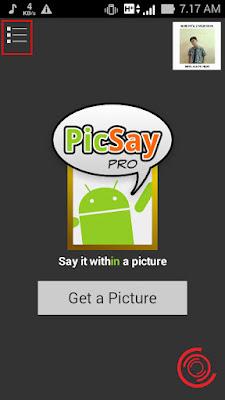 Langkah pertama untuk melihat foto atau gambar yang baru kalian edit beberapa waktu yang lalu ialah dengan membuka aplikasi Picsay Pro nya terlebih dahulu, lalu pilih 3 titik garis di pojok kiri atas