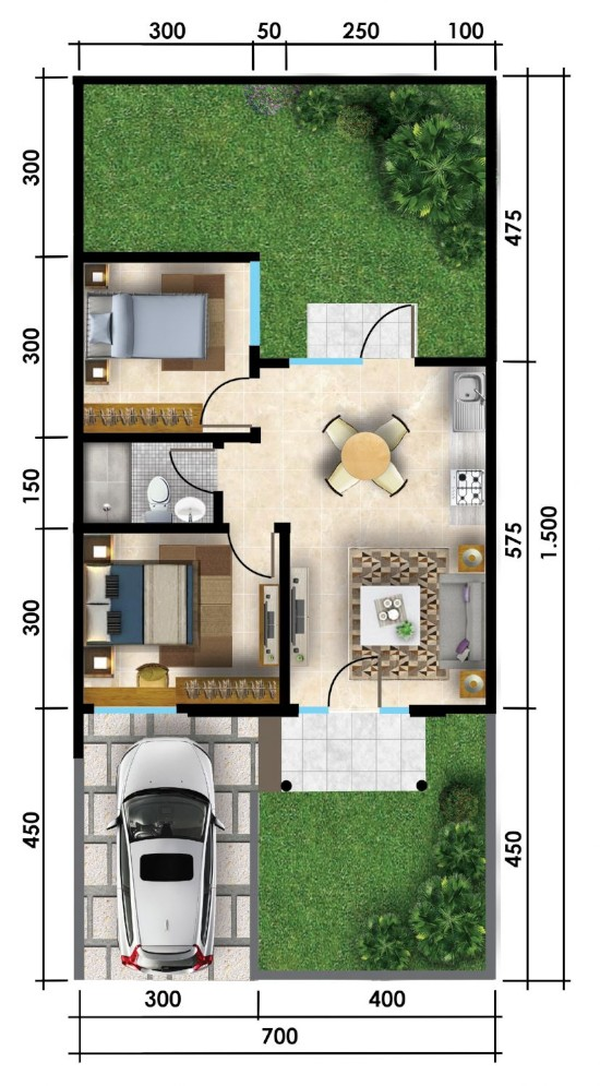 Gambar Desain Rumah Minimalis 7 X 15  denah rumah 7 x 15 aneka rupa rumah