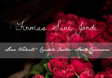 Horarios de firmas de autores en Sant Jordi