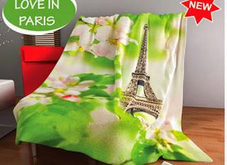Selimut Kintakun Flannel Love in Paris