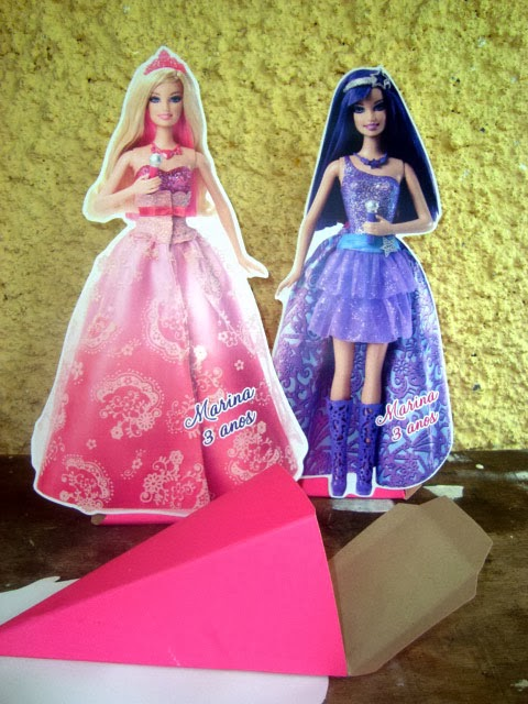 enfeite de mesa barbie pop star