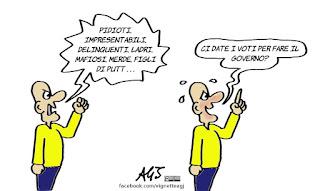 m5s, pd, governabilità, voti, fiducia, governo, politica, vignetta, satira