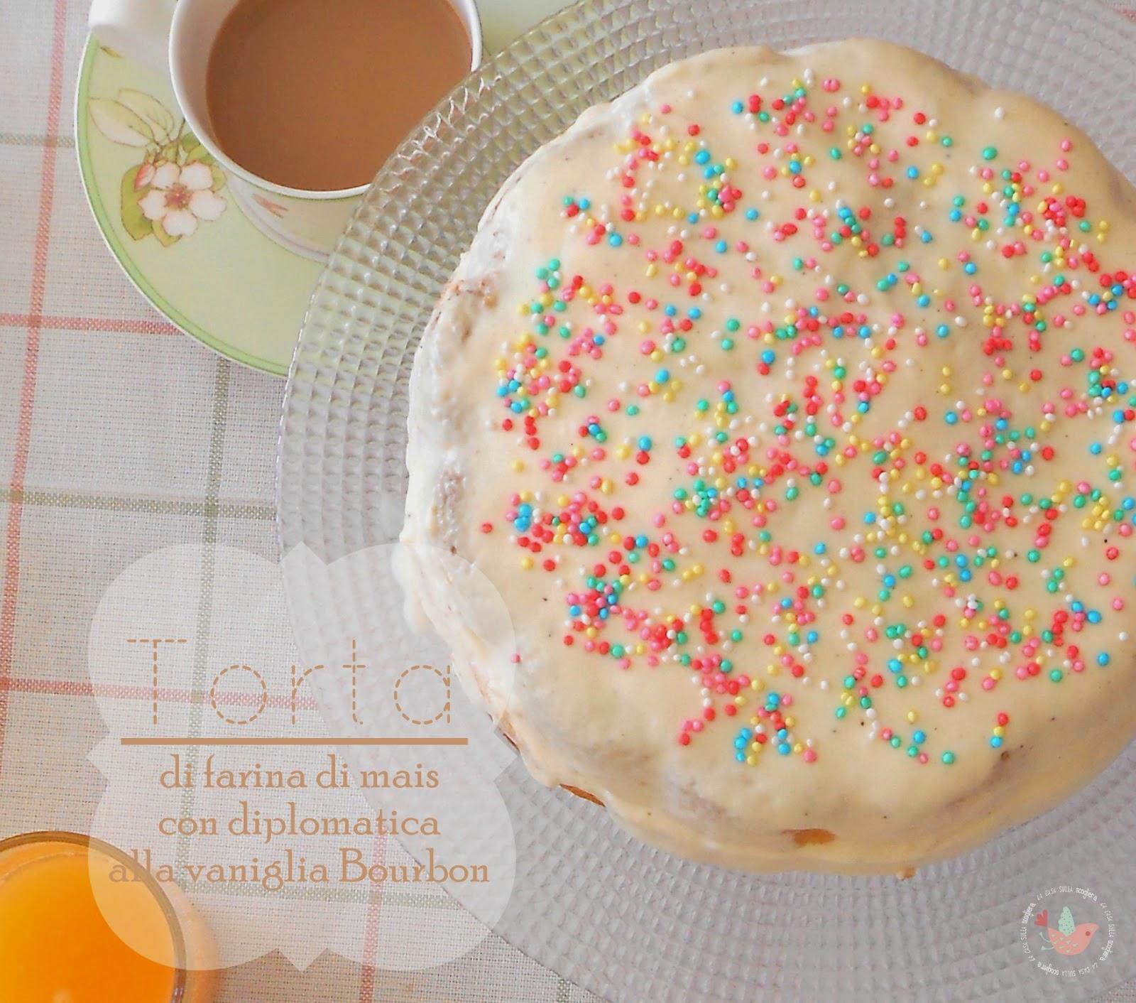 Torta di farina di mais con crema diplomatica alla vaniglia Bourbon: la felicità nel piatto della prima colazione!