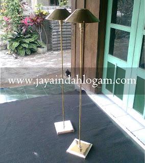 Standing Lamp Tembaga dan Kuningan - pusat kerajinan tembaga dan kuningan